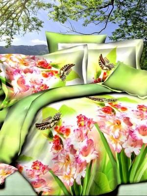 SF-12 комплект постельного белья Полисатин 3D Home Collection Семейный