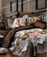 SF-09 комплект постельного белья Полисатин 3D Home Collection 1,5 спальный