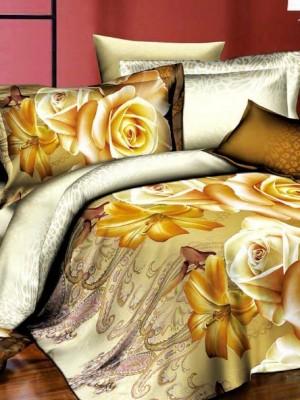 SF-17 комплект постельного белья Полисатин 3D Home Collection 2х спальный