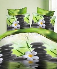 SF-10 комплект постельного белья Полисатин 3D Home Collection 1,5 спальный