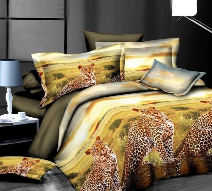 SF-01 комплект постельного белья Полисатин 3D Home Collection 1,5 спальный