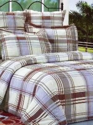 А-104 комплект постельного белья Поплин Сайлид Семейный