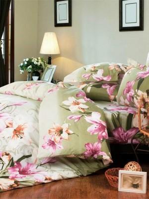 А-124 комплект постельного белья Поплин Сайлид 2 спальный