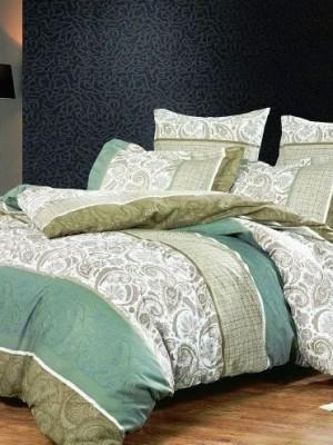 А-125 комплект постельного белья Поплин Сайлид Евро