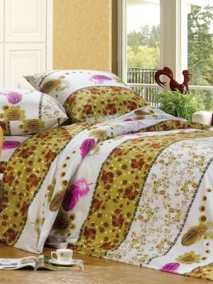 А-110 комплект постельного белья Поплин Сайлид Семейный