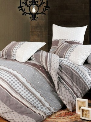 А-130 комплект постельного белья Поплин Сайлид 2 спальный
