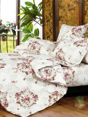 А-132 комплект постельного белья Поплин Сайлид Евро