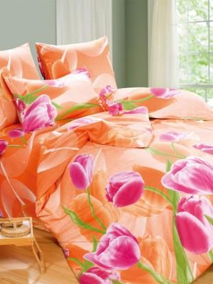 А-131 комплект постельного белья Поплин Сайлид 2 спальный