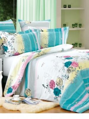 А-149 комплект постельного белья Поплин Сайлид 2 спальный