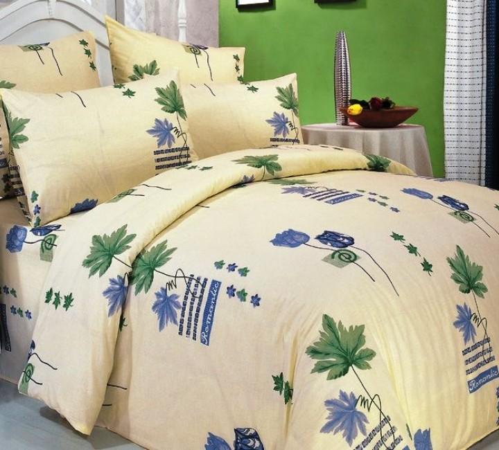 А-01 комплект постельного белья Поплин Сайлид Евро