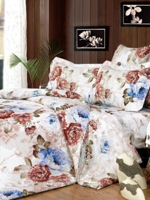 А-133 комплект постельного белья Поплин Сайлид Евро