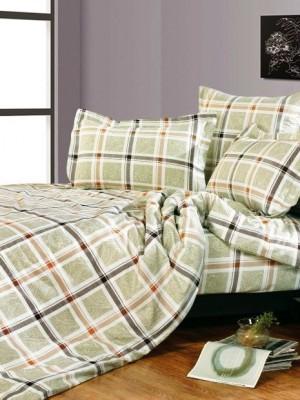 А-135 комплект постельного белья Поплин Сайлид Семейный