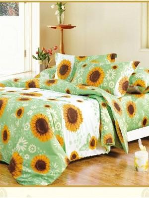 А-116 комплект постельного белья Поплин Сайлид Семейный