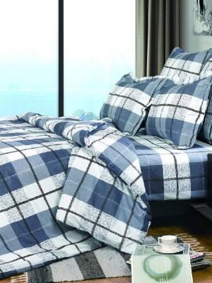 А-139 комплект постельного белья Поплин Сайлид Семейный