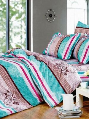 А-138 комплект постельного белья Поплин Сайлид 2 спальный
