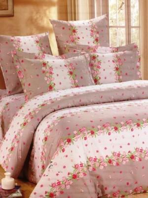 А-142 комплект постельного белья Поплин Сайлид Евро