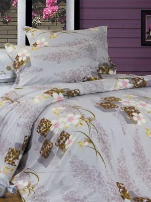 В-89 комплект постельного белья Сатин Сайлид 1,5 спальный