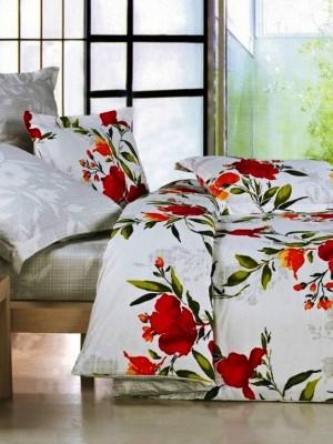 В-63 комплект постельного белья Сатин Сайлид 1,5 спальный