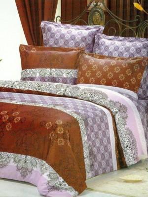 В-65 комплект постельного белья Сатин Сайлид 1,5 спальный