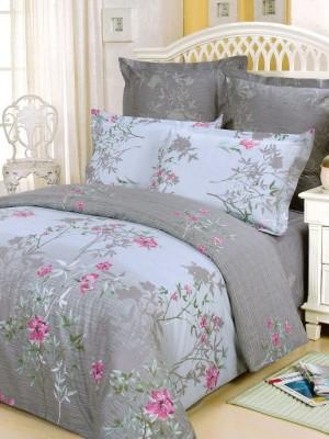В-31 комплект постельного белья Сатин Сайлид 1,5 спальный
