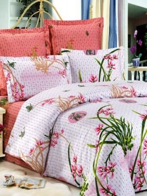 В-70 комплект постельного белья Сатин Сайлид 1,5 спальный
