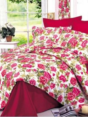 В-4 комплект постельного белья Сатин Сайлид 1,5 спальный