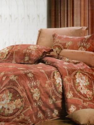 В-95 комплект постельного белья Сатин Сайлид 1,5 спальный