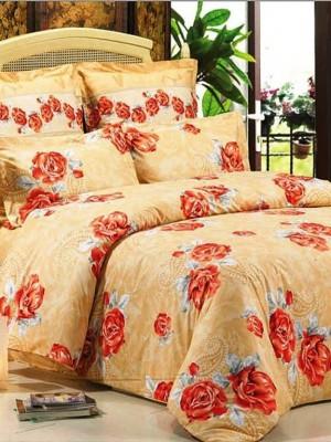 В-73 комплект постельного белья Сатин Сайлид 1,5 спальный