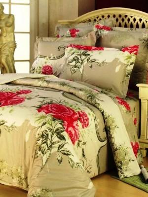 В-45 комплект постельного белья Сатин Сайлид 1,5 спальный