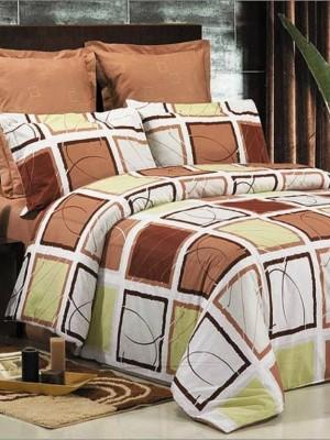 В-75 комплект постельного белья Сатин Сайлид 1,5 спальный