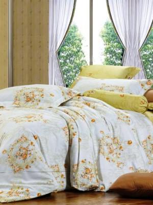 В-97 комплект постельного белья Сатин Сайлид 1,5 спальный