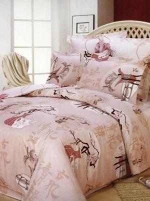 В-49 комплект постельного белья Сатин Сайлид 1,5 спальный