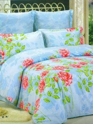 В-77 комплект постельного белья Сатин Сайлид 1,5 спальный
