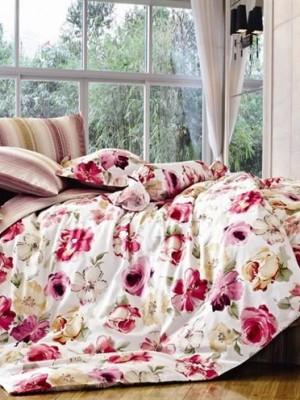 С-135 комплект постельного белья Сатин Valtery 1,5 спальный