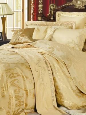 220-47 комплект постельного белья тканный жаккард с вышивкой Valtery Евро