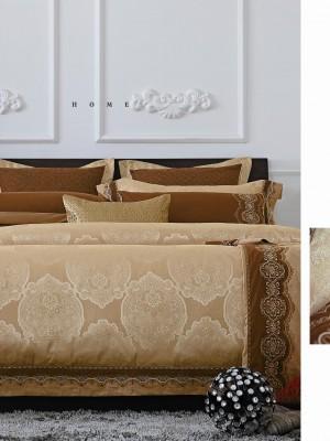 220-91 комплект постельного белья тканный жаккард с вышивкой Valtery 2х спальный