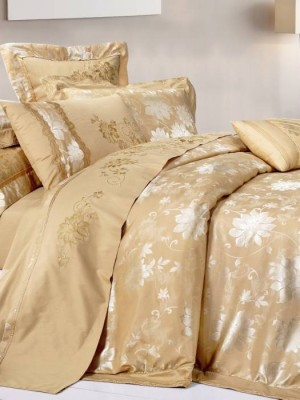 220-49 комплект постельного белья тканный жаккард с вышивкой Valtery Евро