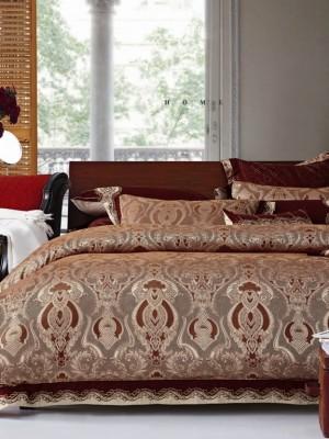 220-94 комплект постельного белья тканный жаккард с вышивкой Valtery Евро