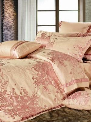 220-54 комплект постельного белья тканный жаккард с вышивкой Valtery Евро