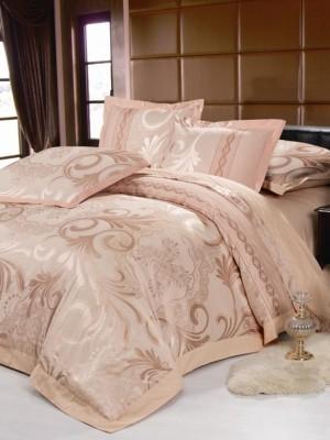 220-87 комплект постельного белья тканный жаккард с вышивкой Valtery Семейный