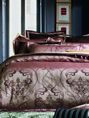 220-88 комплект постельного белья тканный жаккард с вышивкой Valtery Семейный