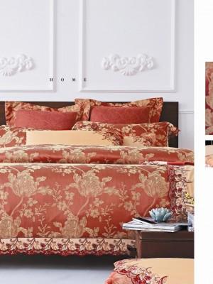 220-92 комплект постельного белья тканный жаккард с вышивкой Valtery Семейный