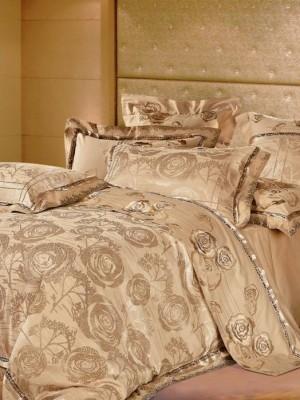 220-46 комплект постельного белья тканный жаккард с вышивкой Valtery Евро