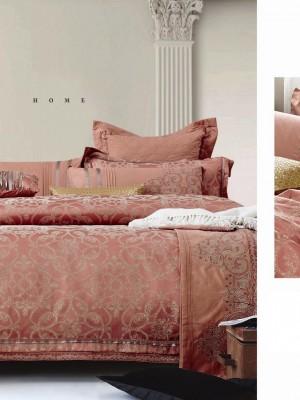 220-93 комплект постельного белья тканный жаккард с вышивкой Valtery Семейный