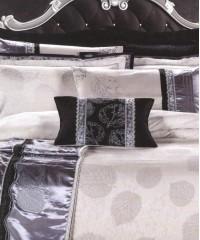L-30 комплект постельного белья шелковый жаккард с вышивкой Valtery Евро