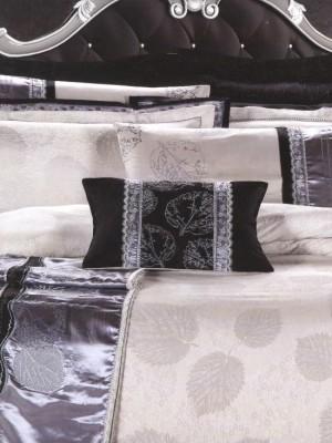 L-30 комплект постельного белья шелковый жаккард с вышивкой Valtery 2х спальный