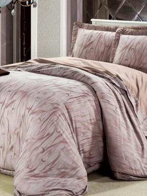 L-32 комплект постельного белья шелковый жаккард с вышивкой Valtery 2х спальный