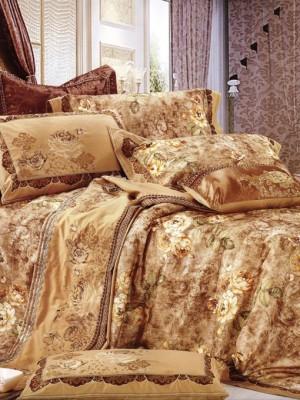 110-59 комплект постельного белья Сатин с вышивкой с отделкой габеленом Valtery Евро