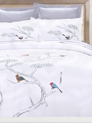 100-52 комплект постельного белья Сатин с вышивкой Valtery Евро