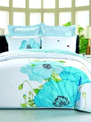 100-62 комплект постельного белья Сатин с вышивкой Valtery Евро